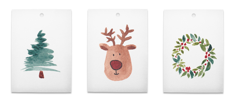 Free Christmas gift tags PDF download