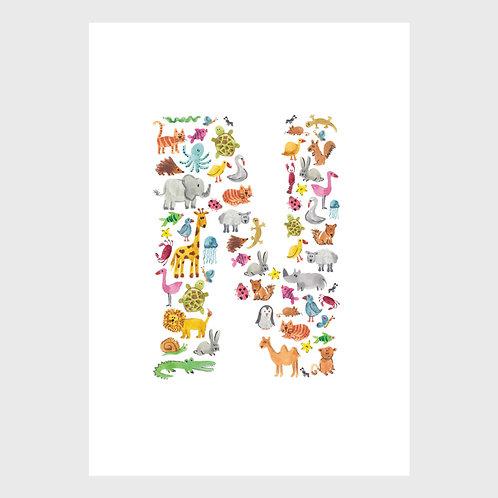 Animal Alphabet: N