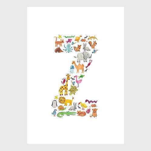 Animal Alphabet: Z