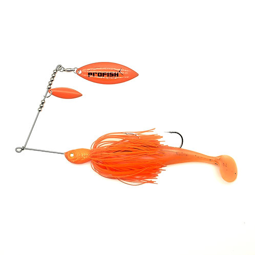Fluro Orange - 3/4oz Spinnerbait