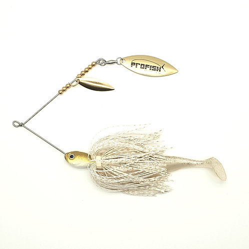 White Gold Scale - Standard Spinnerbaits