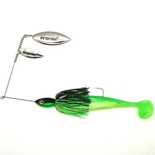 Black n Fluro Green - 2oz Spinnerbaits