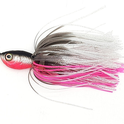 Fluro Pink Mullet - 2oz Spinnerbaits