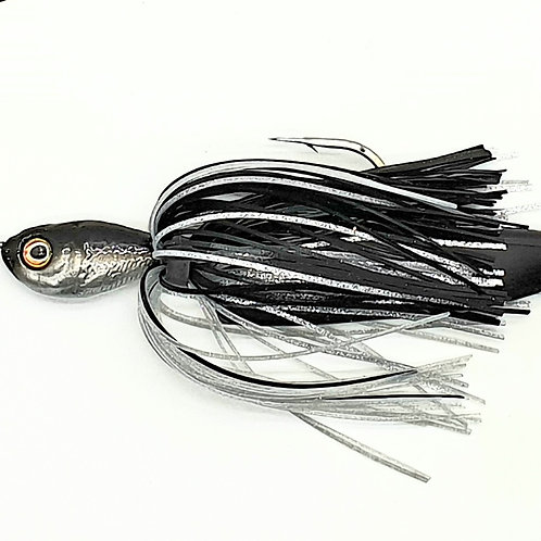 Black n Silver - 3/4oz Spinnerbait