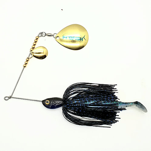 Black and Blue Scale - Standard Spinnerbaits