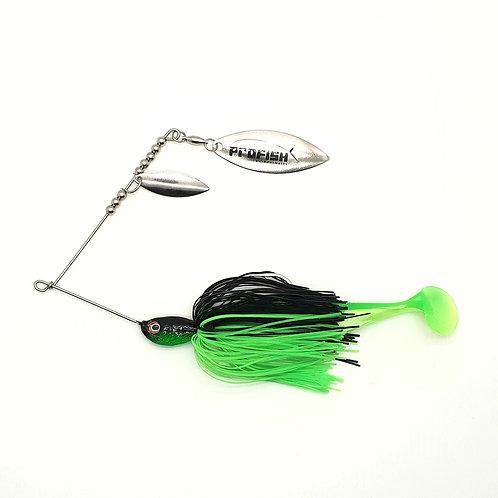 Black n Fluro Green - 1/2oz Spinnerbaits