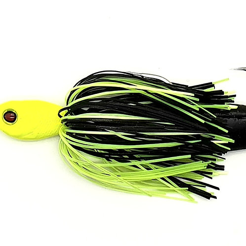 Chartreuse Head Black n Chart - 1.5oz Spinnerbaits