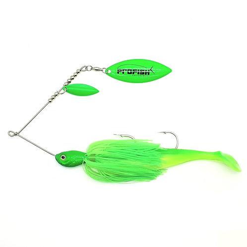 Fluro Lime Green - 1oz Spinnerbait