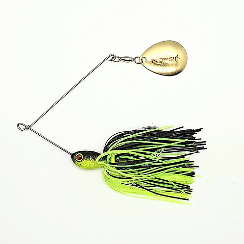 Black and Chartreuse - Micro Spinnerbaits