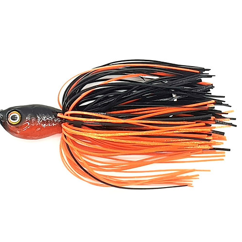 Black n Fluro Orange - 1oz Spinnerbait