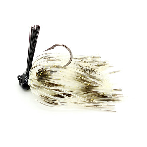Golden White Cray - Weedless Football Jig