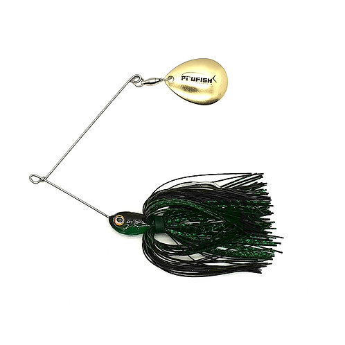 Black and Green Scale - Standard Spinnerbaits