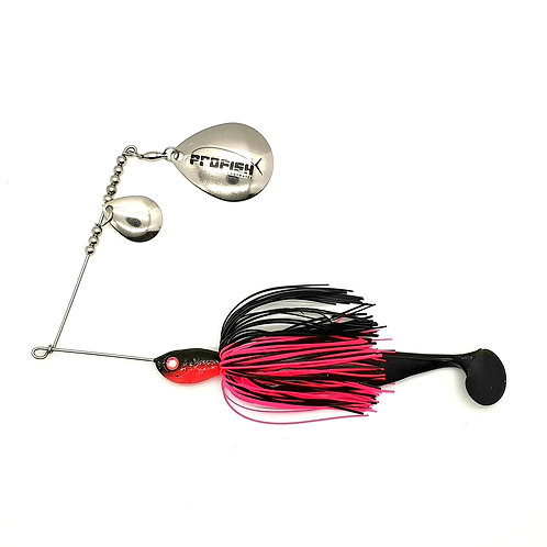 Black and Fluro Pink - Standard Spinnerbaits