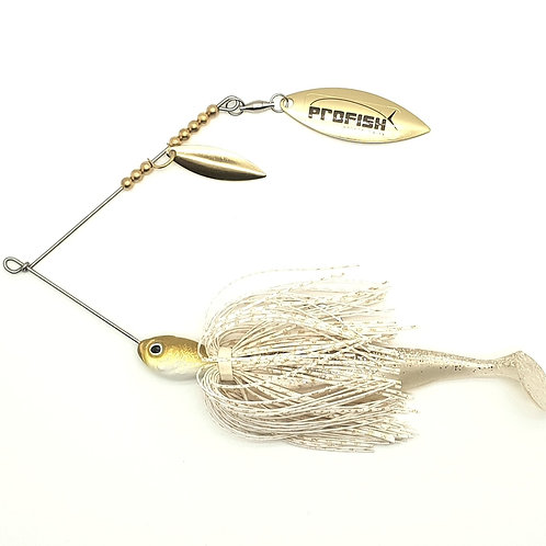 Gold n White Gold Scale - 5/8oz Spinnerbaits
