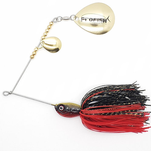 Gold Black n Red - 5/8oz Spinnerbaits
