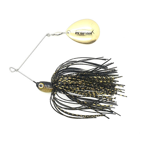 Black n Gold Scale - Micro Spinnerbaits