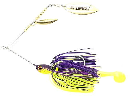 Purple n Chartreuse - 1/2oz Spinnerbaits
