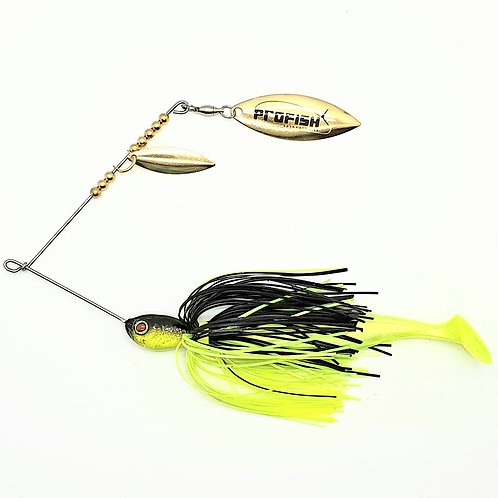 Black and Chartreuse - Standard Spinnerbaits