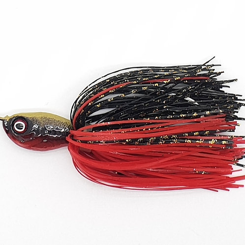 Gold Black n Red - 1.5oz Spinnerbaits