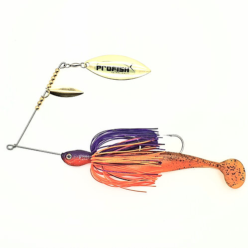 Purple n Orange - 1oz Spinnerbait