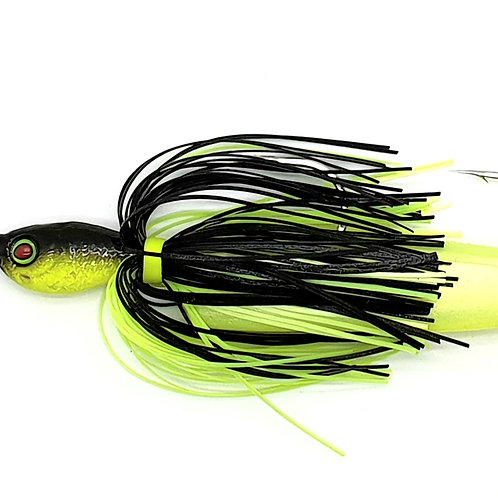 Black n Chartreuse - 1.5oz Spinnerbaits