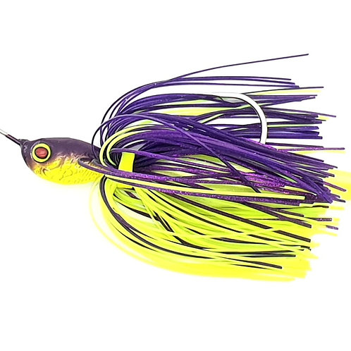 Purple n Chartreuse - 2.5oz Spinnerbaits