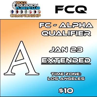 Alpha Qualifier - Flight Club - Jan 23rd