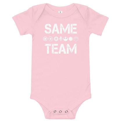 Same Team Baby Onesie