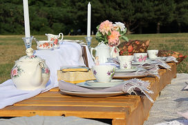 Afternoon tea picnic spread