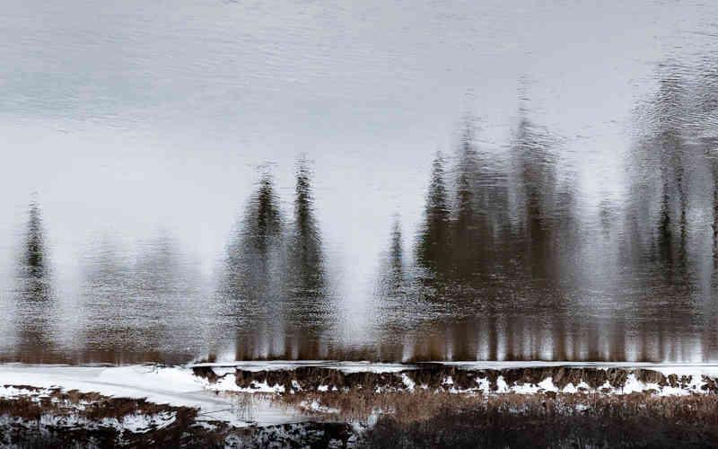 Première neige sur la Rivière du Nord
