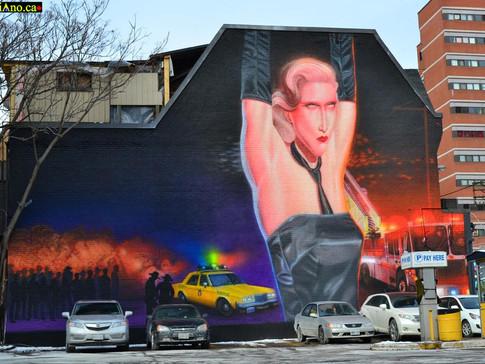 The Bathhouse Raids Mural – Church Street Mural Project for WorldPride 2014, Toronto