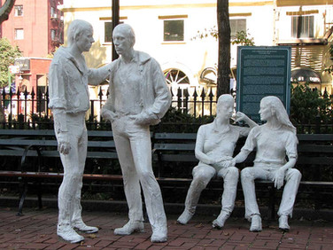 Gay Liberation Monument, Christopher Park, New York, by George Seagal