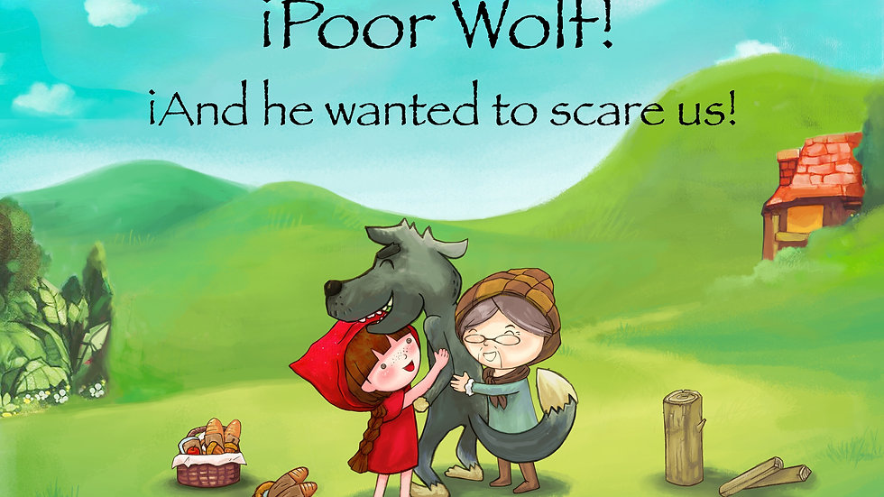 Poor wolf! And he wanted to scare us!