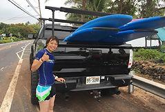 ハワイ島のイルカツアー、サーフィンレッスン