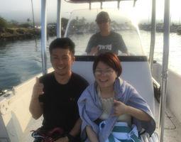 ハワイ島のサーフィングスクールをご利用していたいただいた、高橋夫妻のお写真