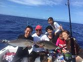 ハワイ島でカジキマグロをつりあげまsつりあげましょ釣り上げましょう。ボートチャーターができまできます