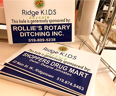 Coroplast Signs, great for events or on a job site.