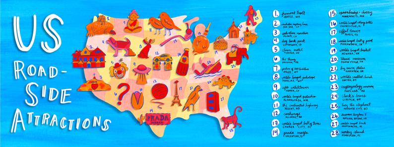 US Roadside Attractions Map