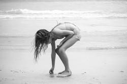 Effie on the beach