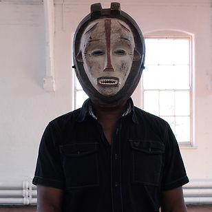 Michael Forbes, Self Portrait, photography, African Mask