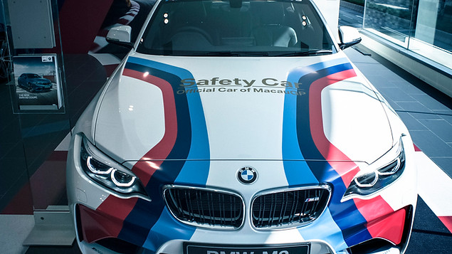 BMW GP Showroom Deco