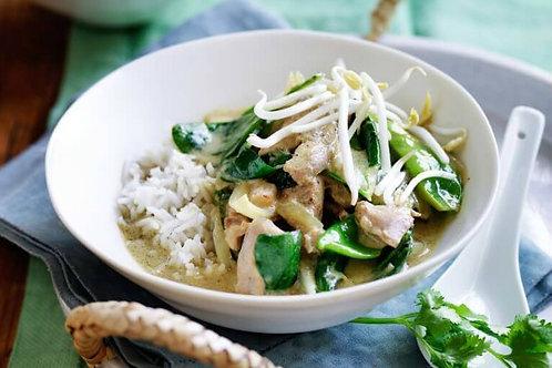Thai Green Chicken Curry + Jasmine Rice