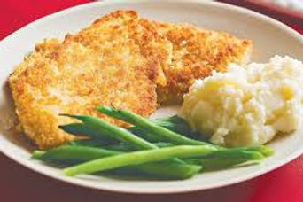 Chicken Schnitzel with Mash
