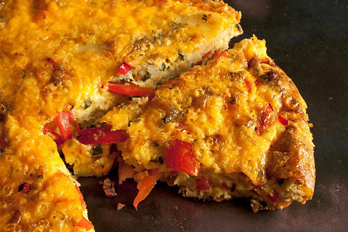 Bacon, Sweet Corn & Roasted Red Pepper Frittata