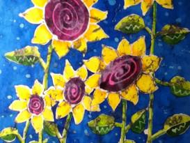 Batik Sunflowers