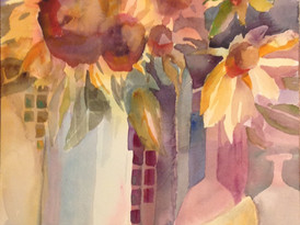 Sunflowers in Vases