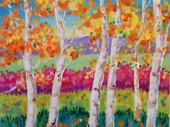Morning Birches