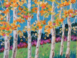 Midday Birches