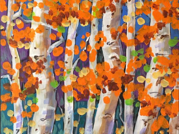 Autumn Birches I