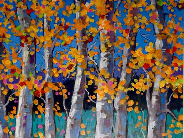 Autumn Birches II